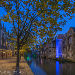 Bewerking: Historical Dordrecht in the Blue Hour