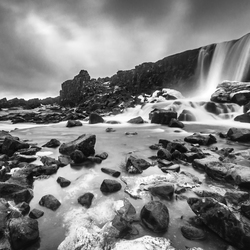 Oxarafoss BW, Iceland