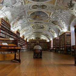 Strahov klooster bibliotheek