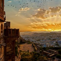 Jodhpur India, Blauwe stad