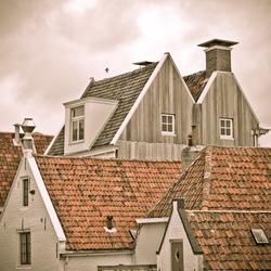 Oude huisjes in Harlingen