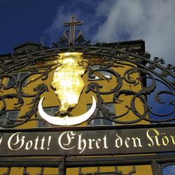 Poort van kerk in Stockholm