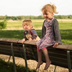 Isaac en Malou in de zon