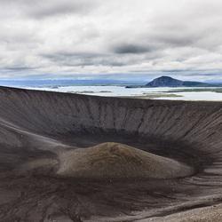 De krater Hverfell