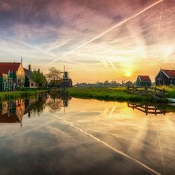 Sunset at Zaanse Schans