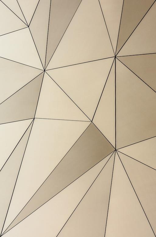 golden triangle - detail van de gevel van een café in houten