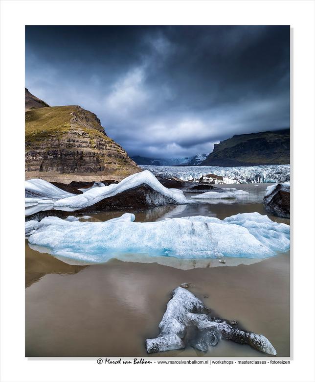 Glacier lake Iceland - Een opname uit ijsland ...