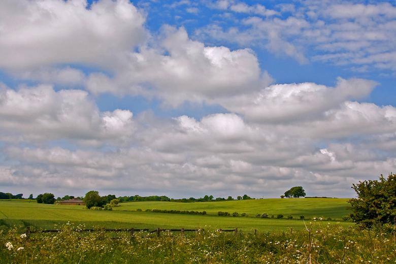 Engels landschap - Onderweg naar het kleinste stadje van Engeland, kwam ik nog dit fraaie landschapbeeld tegen.