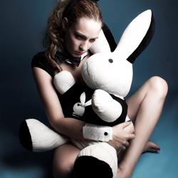 Playboy Girl and Bunny