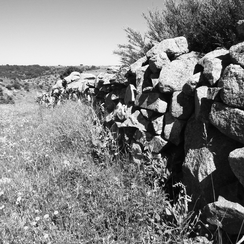 Muur van stenen .Spanje