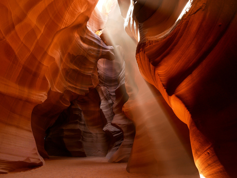 Lightbeam Antelope Canyon -