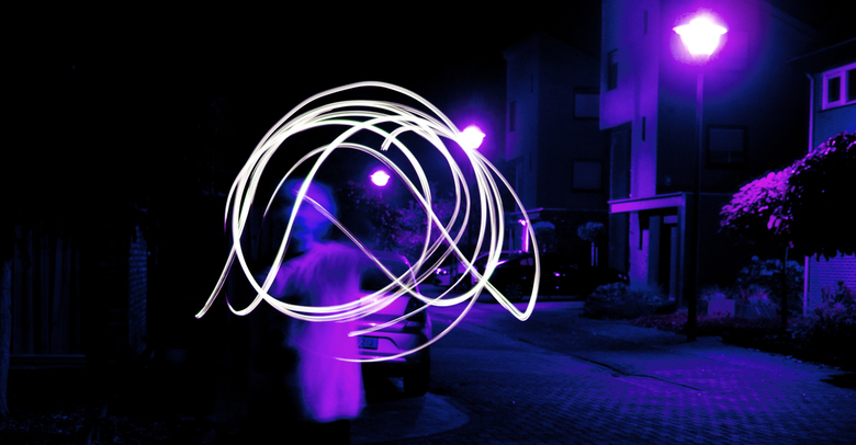Spelen met licht bewerkte fotografie foto van rv zoom