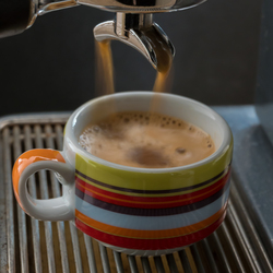 Ochtendstond heeft espresso in de mond