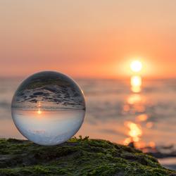 Glazen zonsondergang