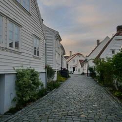 Oud Stavanger Noorwegen.
