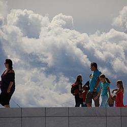 Mensen op het dak