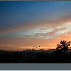 Zonsondergang boven de Sinai