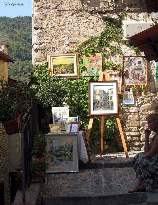 wachten op kunstkoper - galerie bij kunstenaar in oud centrum straatje