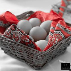 mandje met eieren
