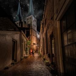 Deventer kerk avond