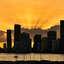 Miami bij zonsondergang bij vertrek MSC Seaside