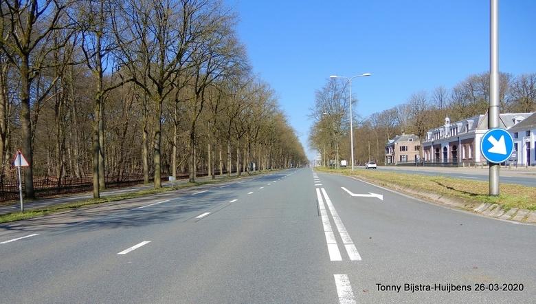 11.57 uur N221 - gisteren om 11.57 uur kon je hier zo maar oversteken! ongekend op deze weg die voor paleis Soestdijk loopt en doorgaans aardig wat ve