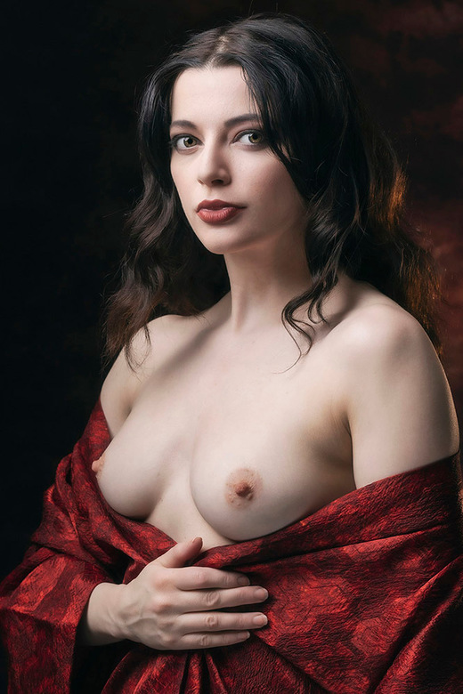 Nude Portrait of Helen - Helen Diaz in klassieke pose.