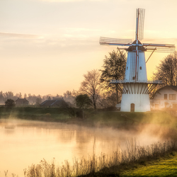 Mill at sunrise-1