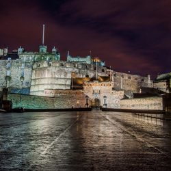 Edinburg Castle by night