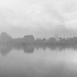 Honfleur_Port_Mistery_BW_2015