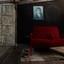 Verlaten woonkamer
