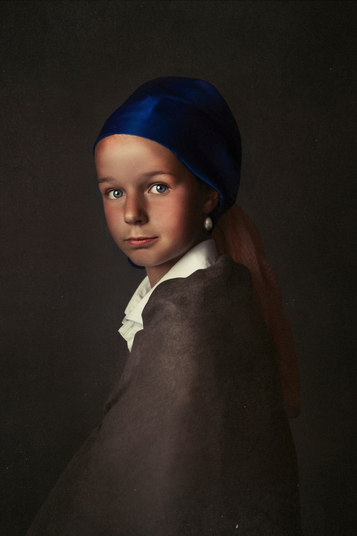 Meisje met de parel - Gebaseerd op het bekende schilderij van Johannes Vermeer