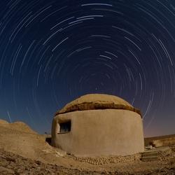 Startrails Negev Desert