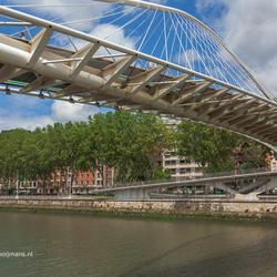 Calatravabrug over de Nervion rivier in Bilbao