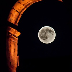 Moonlight at the colosseum