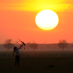 Aiming at the sun