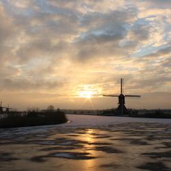 winterse ochtendzon