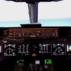 MD11 Cockpit avond
