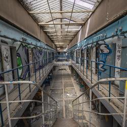 Verlaten gevangenis in frankrijk