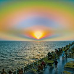 zons ondergang in het midden oosten