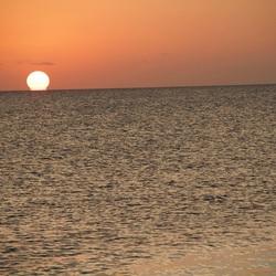 Perfecte sunset ... zon die 'lekt'