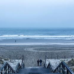 Having a walk on the beach
