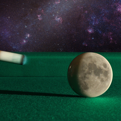 Dark side of the cue ball