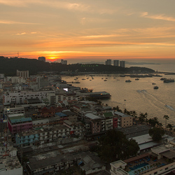 Zonsondergang in Pattaya