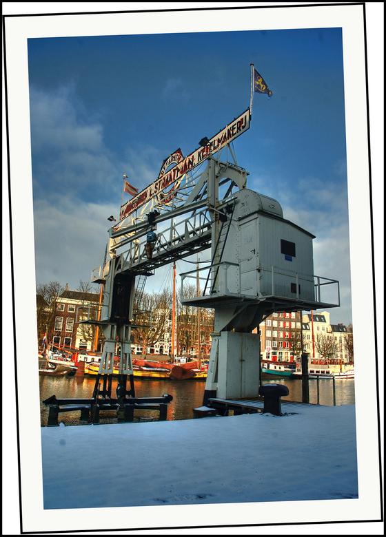 Straatman Dordrecht - Plaatje van een bekend plekje in Dordrecht Straatman Machine fabriek op 7 januari 2009.