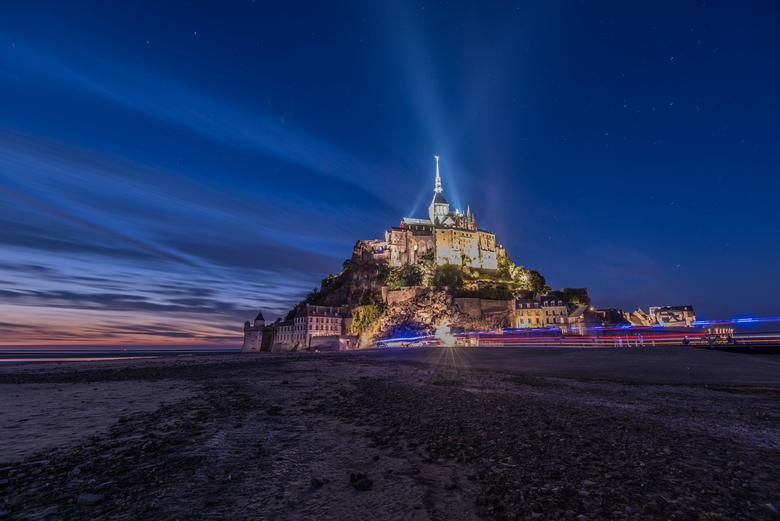 Mont Saint Michel - Mont Saint Michel bij nacht.