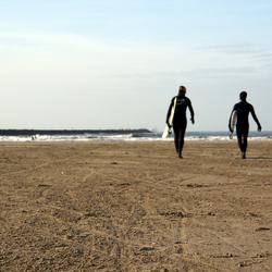 Op weg naar de surf