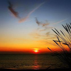 zonsondergang op noordzee