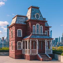 Haunted House boven op the Met Museum New York