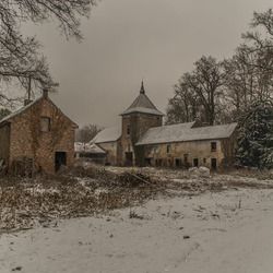 chateau in de winter